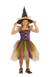 Rainbow Witch Children Costume