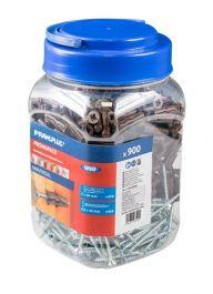 Rawlplug Uno Multi Purpose Brown Plugs - 450plugs + 450screws