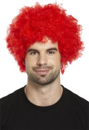 Red Clown Afro Wig 120g