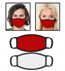 Red Cotton Face Mask With Filter Pocket