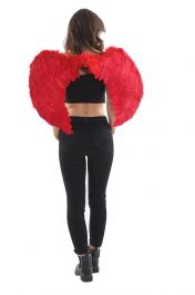 Red Feather Wings Large (Folding)