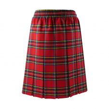 Red Tartan Box Pleated Skirt