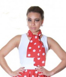 Red White Polka Dot Scarf