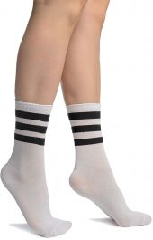 Referee White Black Ankle Socks(12 Pairs)