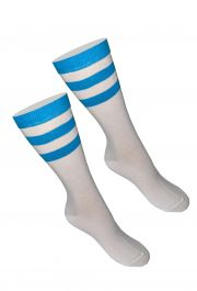 Referee White Turquoise Ankle Socks(12 Pairs)