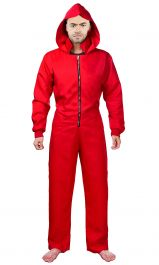 Robber Red Coverall Costume
