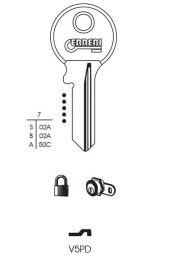 RST Viro Cylinder Key Blank - Pack 10 - V5PD