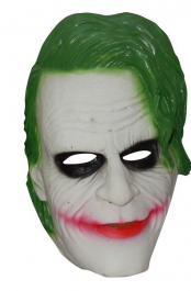 Rubber Green Hair Horror mask