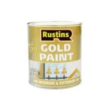 Rustins Quick Dry Paint Gold - 250ml