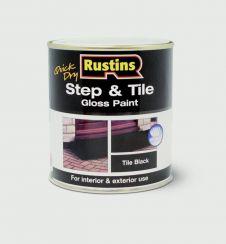 Rustins Quick Drying Step Tile Black - 1L