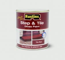 Rustins Quick Drying Step Tile Red - 1L