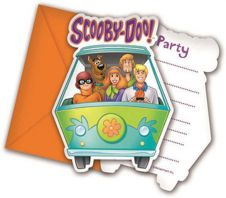 Scooby Doo Invites & Envelope (Pack of 6)