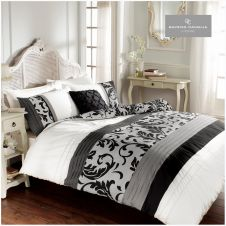 SCROLL DUVET SET BLACK