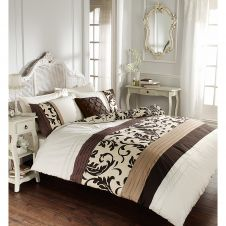 SCROLL DUVET SET CHOCO