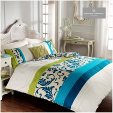 SCROLL DUVET SET TEAL