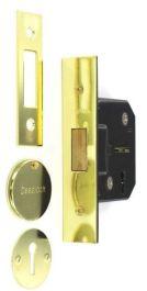 Securit 3 Lever Deadlock Brass Plated - 63mm