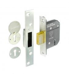 Securit 5 Lever Dead Lock - 63mm Nickel Plated