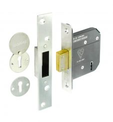 Securit 5 Lever Dead Lock - 75mm Nickel Plated