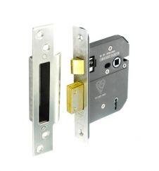 Securit 5 Lever Sash Lock - 75mm Nickel Plated