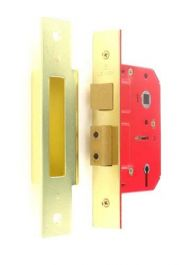 Securit 5 Lever Sash Lock BS3621 Brass - 75mm