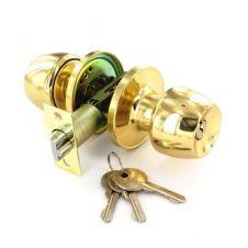 Securit Brass Entrance Lock Set with 3 Keys - 60mm/70mm