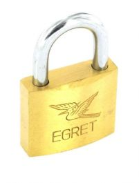 Securit Egret Brass Padlock Cylinder Action - 30mm