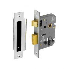 Securit Euro Sash Lock Nickel Plated 48mm C/C - 63mm