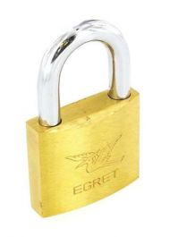 Securit Keyed Alike Padlock Brass Pk 4 - 40mm