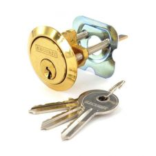 Securit Polished Brass Spare Cylinder with 3 Keys - Universal