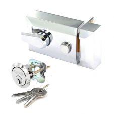 Securit Polished Chrome Double Locking Nightlatch - Standard