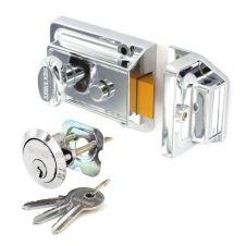 Securit Polished Chrome Night Latch (3 Keys) - Standard