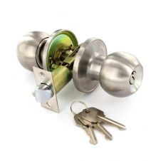 Securit Stainless Steel Entrance Lock Set with 3 Keys - 60mm/70mm