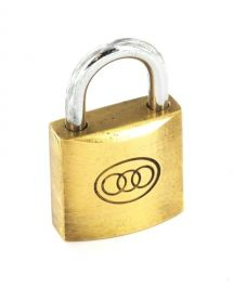 Securit Tricircle Brass Padlock - 25mm