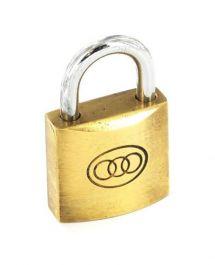 Securit Tricircle Brass Padlock - 50mm 6 Pack