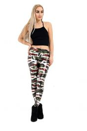 Shiny Metallic Camouflage Leggings