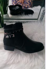 Side Buckle Boots Black