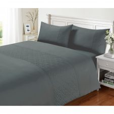 SIGNATURE DUVET SET PIN SONIC CHARCOAL