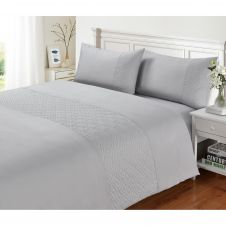 SIGNATURE DUVET SET PIN SONIC GREY
