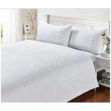 SIGNATURE DUVET SET PIN SONIC WHITE