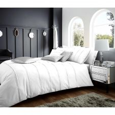 SIGNATURE DUVET SET SCHEMA WHITE