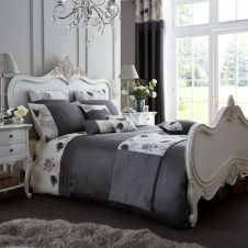 SIGNATURE KOH DUVET SET GREY