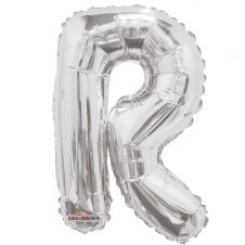 Silver Letter Balloon - R - (14inch)