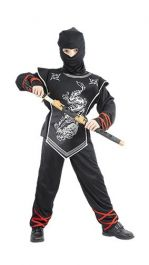 Silver Ninja Children Costume