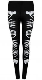 Skeleton Hands Printed leggings