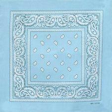 Sky Blue Paisley Bandana (1 Dozen)