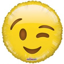 Smiley Wink Character Balloon (18inch)
