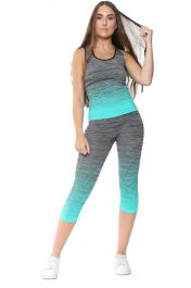 Ladies Activewear Leggings Vest Top Set
