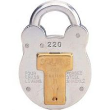 Squire 4-Lever Galvanised Steel - Old English Padlock - 38mm