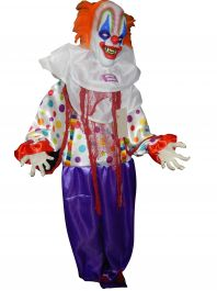 Standing Animated Light Up Clown 166cm