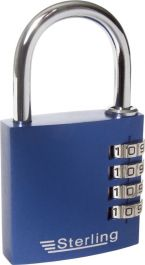 Sterling 3-Dial Anodised Combo Padlock - 30mm